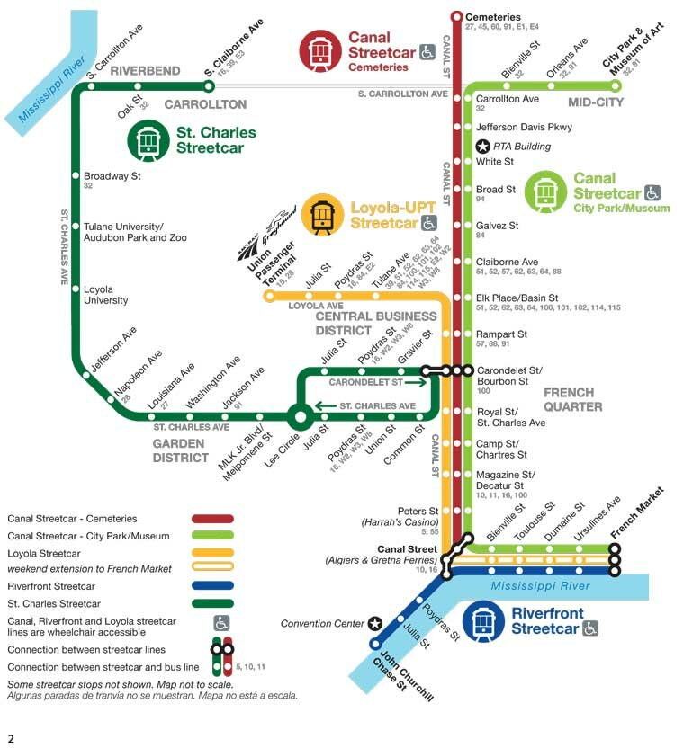 new orleans streetcar map. Black Bedroom Furniture Sets. Home Design Ideas