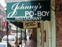 Johnny's Po-boy Restaurant in the French Quarter